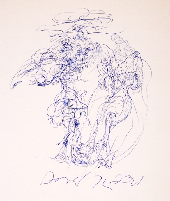 "Danny Allen - What I'm calling a ""ballpoint pen storm."" Date unreadable ca.1974"