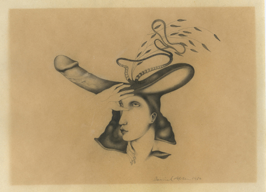 Danny Allen, graphite drawing, 1972. collection of Wendy Lippman.