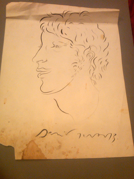 Danny Allen, India ink drawing on newsprint paper, 1973. Collection of Susan Plunkett.