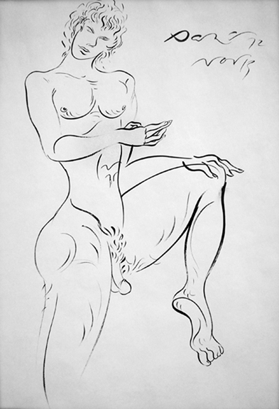 Danny Allen, drawing of a satyr