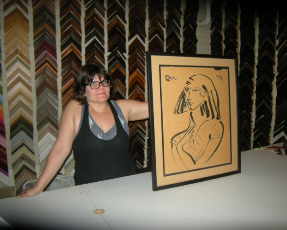 Kylie with framed drawing